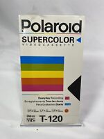 Vintage Polaroid Supercolor BLANK T-120 NEW FACTORY SEALED VHS Tape