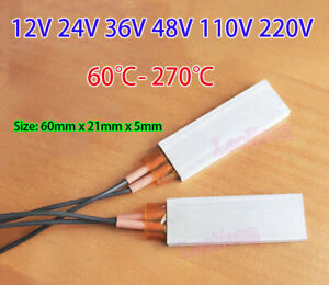 12V-220V Constant Temperature PTC Heater Element Thermostat Heating Plate Tablet