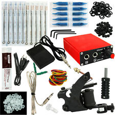 OPHIR Beginning One Machine Tattoo Kit with Tattoo Power Supply Nozzle Needle