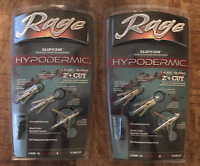 "New Rage Hypodermic Standard 100 Gr  2"" Cut ( 2 PACKS ) Rage Dealer MPN R39100"