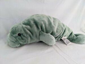 "Dakin Wyland Manatee Plush Green 17"" Applause Stuffed Animal Toy"