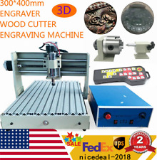 4 Axis 3040 Cnc Router Desktop Engraver Wood Working Drilling Machine Controlle