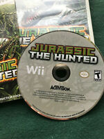 Jurassic The Hunted Nintendo Wii Game 2009 Activision Jurassic Park Dinosaurs