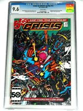 Crisis on Infinite Earths #12 CGC 9.6 1986 WP Wally West Becomes the New Flash!