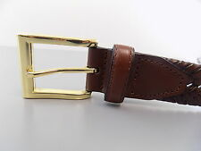 """Club Room $55 Brown MEN SIZE 35-36 WIDTH 1.25"""" CASUAL DEFECT BELT BRAIDED O10"""