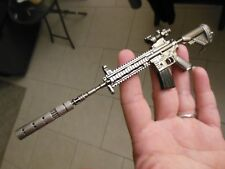 AR 15 -  Rifle WITH SILENCER **Keychain**EXTRA--Large**Free  Shipping
