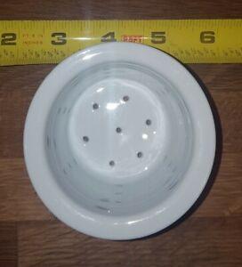 World Market Tea Infuser Strainer White porcelain ceramic