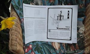Whirlygig WOODWORKER MAN whirligig garden wind toy copy carpentry pattern plans!