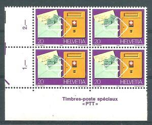 SUISSE 1980  Bloc de 4  n°1110  neuf ★★ Luxe /MNH
