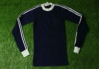ADIDAS VINTAGE MENS 80'S RARE FOOTBALL SOCCER L/S SHIRT JERSEY ORIGINAL SIZE XS