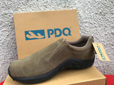 Mens Twin Gusset Jungle Taupe Leather Suede Slip On Comfort Leisure Shoes 6 - 14