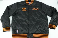 Adidas New York Knicks NBA Quilted Satin Snap Button Jacket Size XL