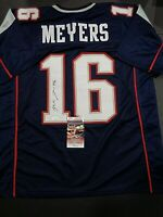 Jakobi Meyer New England Patriots Autographed Custom Style Jersey XL W/Coa JSA