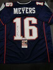 Jakobi Meyer New England Patriots Autographed Custom Style Jersey XL W/Coa JSA*-