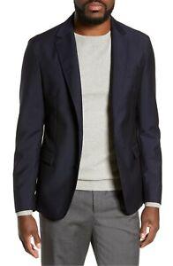 Hugo Boss Men's 'Nailen' Slim Fit Dark Blue Wool Mohair Sport Coat Blazer, 38R