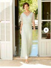 Joanna Hope  Pale Green Beaded Maxi Dress Size 12
