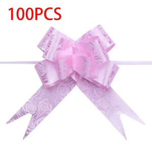 Organza Ribbon Pull Bows Flowers Gift Wrap Wedding Christmas Home Party Decor
