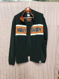 Harley-Davidson® Men's Chest Stripe  ZIP UP FLEECE JACKET, medium