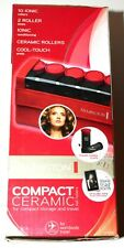 Remington Travel Hair Curlers Compact 10 Ceramic Ionic Hot Rollers 5 Med./5/Lrg.