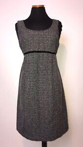 MOTHERHOOD MATERNITY Black White Textured Sleeveless Fall Winter Dress Small S