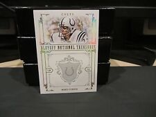 National Treasures Parallel Platinum Base Card Colts Mike Curtis 2/5 2008