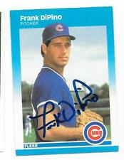 FRANK DIPINO 1987 FLEER AUTOGRAPHED SIGNED # 560 CUBS