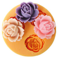 Silicone Fondant Mold Cake Decor Chocolate Sugarcraft Baking Mold 3D Rose Flower