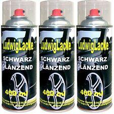 Schwarz glänzend  WOW 3 Spraydosen  AUTOLACK  400ml Ludwiglacke