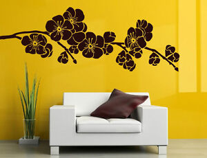 Wall Sticker Japanese Cherry Blossom Vinyl Decal Floral Art Decor Removable UK