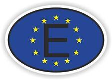 OVAL EUROPEAN UNION FLAG CON e Codice paese Adesivo SPAGNA ESPANA MOTO AUTO