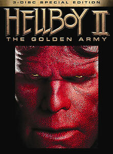 Hellboy II: The Golden Army (DVD, 2008, 3-Disc Set, Limited Edition...