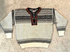 DALE OF NORWAY Womens Nordic Wool Knit Sweater Metal Clasp Size: Medium