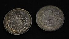 Canada 50 Cents Silver 1943 1944 - very nice coins