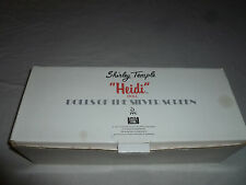 New Heidi Danbury Mint Shirley Temple Porcelain Doll Fox Film Nib Silver Screen