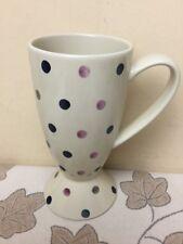 Whittard of Chelsea Large Footed Latte Mug Polka Dot Design Superb Condition