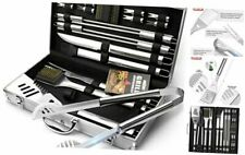 Grillart Bbq Grill Utensil Tools Set Reinforced Bbq Tongs 19-Piece Stainless-Ste