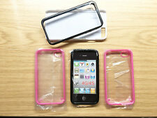 Black and Pink Case Covers for Apple iPhone 4 / 4S  Plus 2 x Others  JOB LOT = 5