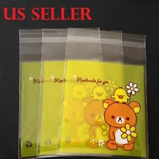 25 pc Cartoon Bear Self Seal Plastic Gift Bag Jewelry Packing  For All Party B3