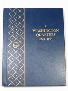Complete 83 Coin Silver Washington Quarter Set 1932-64 Whitman #9418 Album.  #66