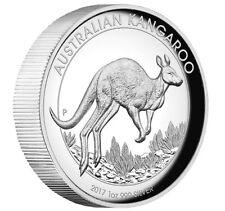 2017 Australian Kangaroo 1 oz Dollar $1 Silver Proof High Relief Coin Australia