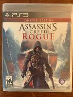 ASSASSIN'S CREED ROGUE LIMITED EDITION UBISOFT PLAYSTATION 3 PS3 NEW STILL SEALE