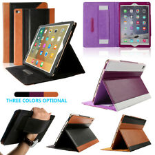 100% Genuine Leather Folio Smart Case Shockproof Wallet Cover For iPad Air 2