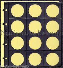B-D-M Pack 10 hojas Pardo para monedas 12 alojamientos Ø 42 mm Mod. 75100