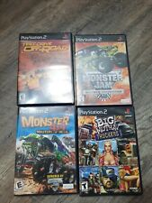 Lot of 4 monster 4x4 big mutha trucker monster jam test drive PlayStation 2 PS2