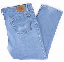 Levis 540 Flex Straight Leg Vintage Mens Jeans Light Wash Size 44x32