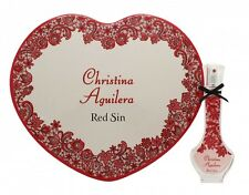 CHRISTINA AGUILERA RED SIN GIFT SET 30ML EDP + TIN HEART BOX - WOMEN'S FOR HER
