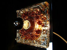 MAZZEGA sconce Wandleuchte GLASS WALL LAMP Glas Wand Lampe Leuchte | 60er 1960s