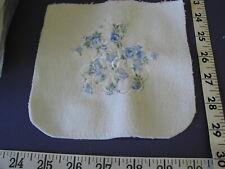 4156 Embroidered Blue White Terry Squares 127 Pcs Unique for Quilts .Sale Lot