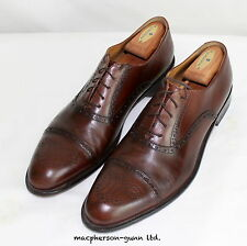 J W. Nordstrom Brown Leather Brogue Wing Tips..11 1/2 M..Italian Made