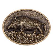 Vintage Tier West Wild Wildschwein Wildschwein Gravur Gürtelschnalle Rodeo